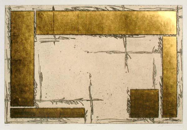 中澤愼一 銅版画 「courtyard1」